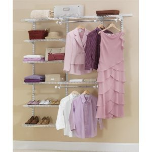 Rubbermaid 3H88 Configurations 3-to-6-Foot Deluxe Custom Closet Kit, White