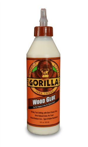 Gorilla Glue 6205001 Wood Glue Bottle, 18-Ounce